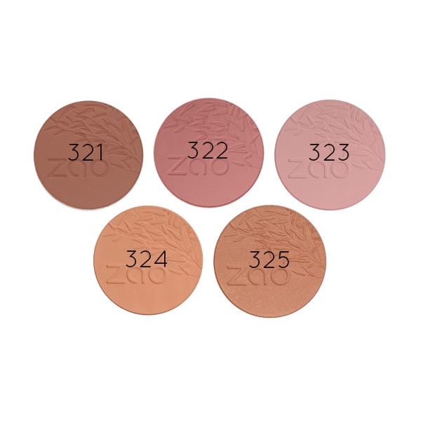 Zao Blush Refill swatches