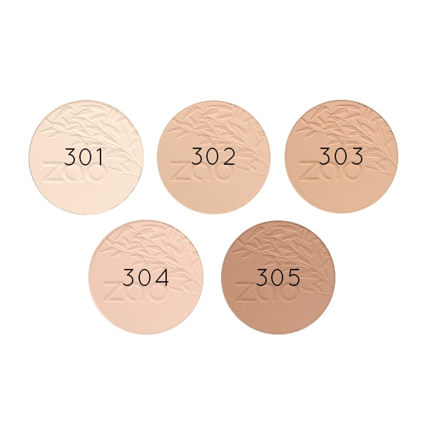 Zao Compact Powder swatches